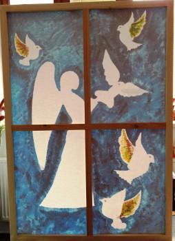 """obraz 2 v 1 s názvem """"Dětská křídla"""