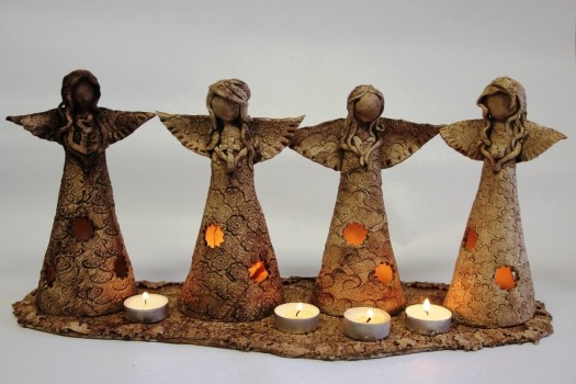 Adventní svícen  - Víra, naděje, láska a krása