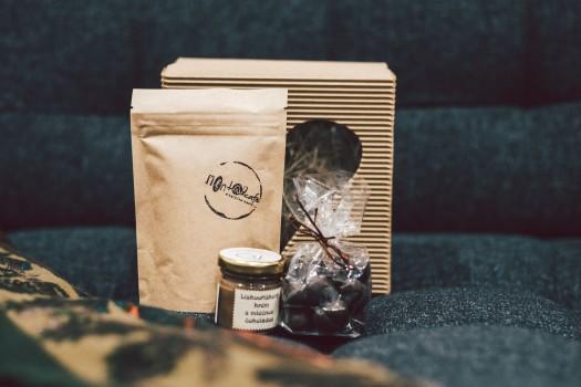 Krabička s vůní kávy